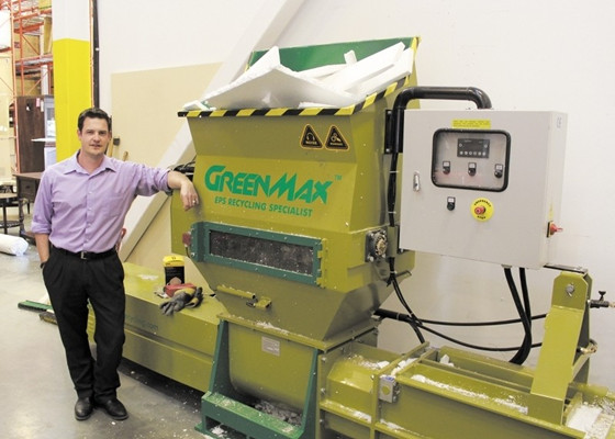 Darin Pound with GreenMax machine