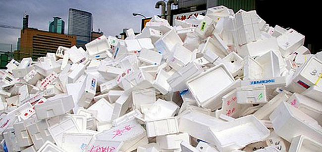 How to recycle styrofoam correctly